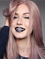 cheap -Synthetic Wig Straight Natural Straight Middle Part Wig Long Pink / Purple Synthetic Hair Women's Soft Middle Part Comfy Pink Purple