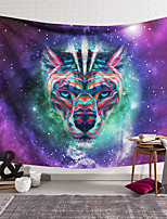 cheap -Wall Tapestry Art Deco Blanket Curtain Hanging Home Bedroom Living Room Dormitory Decoration Polyester Fiber Animal Color Leopard Fantasy