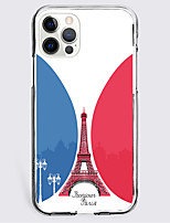 cheap -Eiffel Tower Case For Apple iPhone 12 iPhone 11 iPhone 12 Pro Max Unique Design Protective Case Shockproof Back Cover TPU