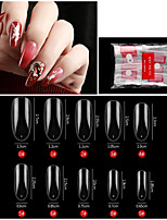 cheap -500PCS Oval Transparent Nail French Pointed Nail Seamless Nail Ballet Nail Transparent Nail Toe Nail Toe Nail Piece