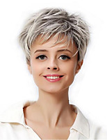 cheap -Synthetic Wig Curly Pixie Cut Wig Medium Length Silver grey Synthetic Hair Women's Soft Cool Color Gradient Dark Gray