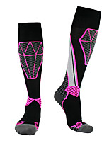 cheap -Men's Women's Ski Socks 1 Pair Winter Softness Heat Retaining Socks Patchwork Wool Ski / Snowboard / Cotton / Elastane