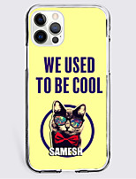 cheap -Animal Patterned Character Case For Apple iPhone 12 iPhone 11 iPhone 12 Pro Max Unique Design Protective Case Shockproof Back Cover TPU WE USED TO BE COOL