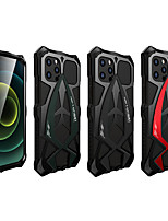 cheap -Case For Apple iPhone 12 / iPhone 12 Pro Max / iPhone 12 Pro Shockproof Back Cover Armor Metal