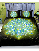 cheap -Mandala Pattern 3-Piece Duvet Cover Set Hotel Bedding Sets Comforter Cover with Soft Lightweight Microfiber, Include 1 Duvet Cover, 2 Pillowcases for Double/Queen/King(1 Pillowcase for Twin/Single)