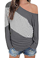 cheap -women's off shoulder casual pullover batwing sleeve tunic tops sweatshirts(gray02,l)