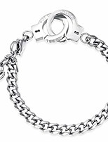cheap -6mm& 10mm stainless steel handcuff interlocking infinity style chain link bracelet (silver 6mm)