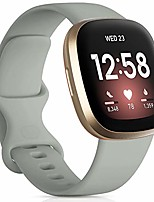 cheap -strap compatible for fitbit versa 3/fitbit sense, silicone sport classic soft replacement straps compatible with fitbit versa 3/fitbit sense for women men, small grey