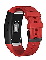 cheap -watch strap for gear fit 2 strap/gear fit 2 pro strap, soft silicone replacement watch strap for samsung sm-r365 band/sm-r365 watch (red)