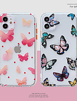 cheap -Case For Apple iPhone 12 / iPhone 11 / iPhone 12 Pro Max Shockproof Back Cover Butterfly / Cartoon TPU