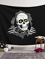 cheap -Wall Tapestry Art Decor Blanket Curtain Hanging Home Bedroom Living Room Decoration Polyester Fiber Black and White Skulls Drilled Out of Lanting Design