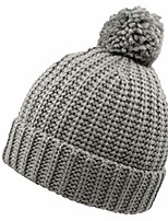 cheap -kids toddler winter fall knit beanie hat with pom boys girls soft warm cute skull cap beige