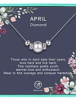 cheap -925 sterling silver necklace birthday gift for women diy birthstone pearl pendant necklace gift for mom grandmother daughter (11)
