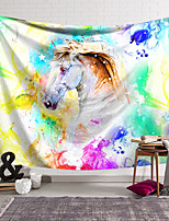 cheap -Wall Tapestry Art Decor Blanket Curtain Hanging Home Bedroom Living Room Decoration Polyester Fiber Animal Painted White Horse Lanting Design