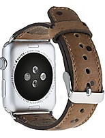 "cheap -apple watch series 1/2/3""watch leather replacement strap (42 mm) in cognac brown with ostrich embossing & matching silver connectors/adapter"