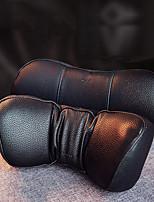 cheap -Baseus Car Neck Pillow Headrest Pillows PU Leather Memory Cotton Auto Neck Rest Cushion Pad Travel Neck Headrest Accessories Black