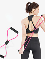 cheap -Exercise Resistance Bands Figure 8 Exercise Cord Sports TPE Yoga Exercise & Fitness Portable Stretchy Durable Weight Loss Leg Shaping For Women