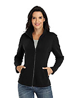 cheap -Women's Coats & Jackets Sporty Pocket Jacket Regular Street Long Sleeve Polyester Coat Tops White