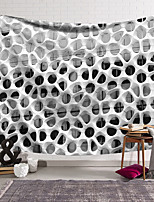 cheap -Wall Tapestry Art Deco Blanket Curtain Hanging Home Bedroom Living Room Dormitory Decoration Polyester Fiber Still Life Modern Black and White Hole Wall Architecture