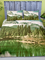 cheap -Forest Landscape 3-Piece Duvet Cover Set Hotel Bedding Sets Comforter Cover with Soft Lightweight Microfiber For Holiday Decoration(Include 1 Duvet Cover and 1or 2 Pillowcases)