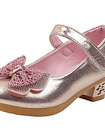 cheap -Girls' Heels Princess Shoes PU Little Kids(4-7ys) Big Kids(7years +) Party & Evening Walking Shoes Pink Gold Silver Spring