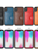 cheap -Leather Case For Apple iPhone 11 / iPhone XR / iPhone XS Max Shockproof Back Cover Solid Colored PU Leather / TPU / PC