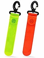 cheap -safety reflective glowing bag pendant tag for running commuter cycling dog walking jogging sports gear hi-visibility adults children bag fluorescent yellow orange silver