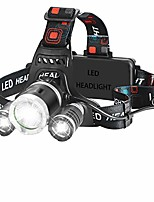 cheap -head torch usb rechargeable headlamp 4 modes with red filter for outdoor camping hunting biking running