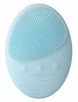 cheap -facial cleansing brush, ip65 waterproof face spin brush set with 3 brush heads- portable facial exfoliating brush for gentle cleansing and deep scrubbing - white