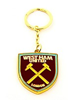 cheap -west ham fc official metal football/soccer crest keyring (one size) (claret)
