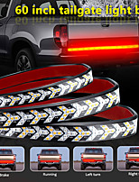 cheap -1Pcs 60 Inch LED Tailgate Strip Light Waterproof Turn Signal Running Reverse Lights for Truck Off-road Vehicles Fishbone Two-color Light Waterproof