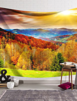 cheap -Wall Tapestry Art Deco Blanket Curtain Hanging Home Bedroom Living Room Dormitory Decoration Polyester Fiber Colored Woods Mountains