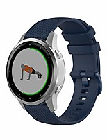 cheap -silicone strap, for 18mm, 20mm, 22mm smartwatch, breathable.quick release - choose color (深蓝色, 22mm)
