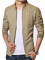 cheap -men's slim fit pu leather jacket outwear(khaki,s size)