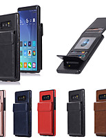 cheap -Case For Samsung Galaxy S9 / S9 Plus / S8 Plus Shockproof Back Cover Solid Colored PU Leather