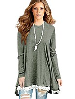 cheap -women's lace long sleeve tunic tops shirt clothing scoop neck womens plus size tunic blouses tops (large/us 12-14, green)