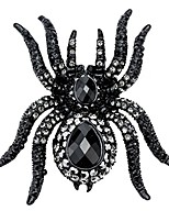 cheap -jewelry women's crystal halloween spider pin brooch pendants