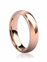 cheap -925 sterling silver ring high polish plain dome tarnish resistant comfort fit wedding band 6mm ring 7-11 (rose gold, 11)