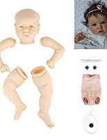 cheap -22 inch Reborn Toddler Doll DIY Unpainted Reborn Baby Doll Kit Professional-Painting Kit Baby Boy Baby Girl Saskia Hand Made Floppy Head No Eyelashes, Hair, Flesh Color Cloth Silicone Vinyl with