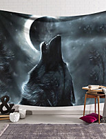 cheap -Wall Tapestry Art Decor Blanket Curtain Hanging Home Bedroom Living Room Decoration Polyester Wolf Under The Moon