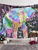 cheap -Oil Painting Style Wall Tapestry Art Decor Blanket Curtain Hanging Home Bedroom Living Room Decoration Polyester Animal Elephant