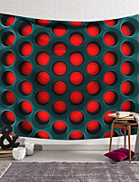 cheap -Wall Tapestry Art Deco Blanket Curtain Hanging Home Bedroom Living Room Dormitory Decoration Polyester Fiber Still Life Black Pattern Red Hole