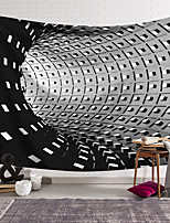 cheap -Wall Tapestry Art Deco Blanket Curtain Hanging Home Bedroom Living Room Dormitory Decoration Polyester Fiber Still Life Modern Black and White Tunnel Geometric