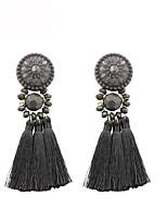 cheap -Women's Drop Earrings Dangle Earrings Layered Fashion Statement Fashion Vintage Gypsy Boho Earrings Jewelry Gray For Street Gift Date Vacation Festival 1 Pair