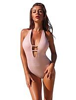 cheap -Women's Fashion Sexy One Piece Swimsuit Slim Normal Swimwear Bathing Suits White Black Blushing Pink