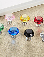 cheap -Crystal Knob color diamond handle modern wardrobe door small handle cupboard drawer handle single hole