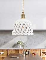 cheap -19 cm LED Pendant Light Modern Ceramic White Bedside Lamp Dining Room Living Room Metal Brass 110-120V 220-240V