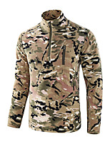 cheap -Men's Hiking Fleece Jacket Winter Outdoor Lightweight Windproof Fleece Lining Breathable Jacket Top Fleece Fishing Climbing Camping / Hiking / Caving CP camouflage Big tree camouflage Ruin green