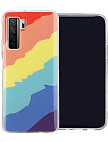 cheap -Case For Huawei HUAWEI P40 / HUAWEI P40 Pro / P40 lite Shockproof Back Cover Lines / Waves TPU