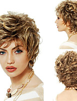 cheap -Synthetic Wig Curly Pixie Cut Wig Short Blonde Synthetic Hair Women's Soft Cool Comfy Blonde